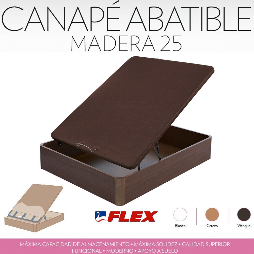 Deskansa online canape flex madera 25 for Canape abatible flex