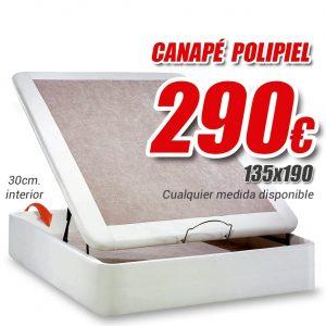 canape polipiel blanco